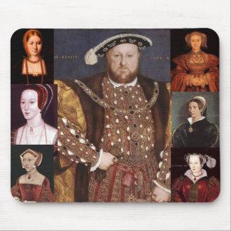 Enrique VIII y sus seis esposas Mousepad Tapete De Ratones
