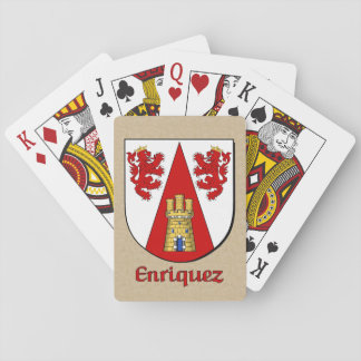 Enriquez Heraldic Shield Playing Cards