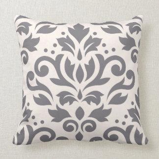 Enrolle la crema grande y el gris del diseño del cojín decorativo