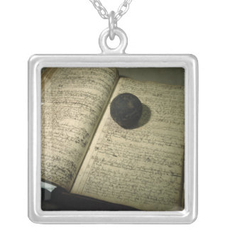 Enrollment book form the time of the Battle Square Pendant Necklace