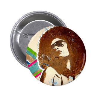 Enrrollado, botón del accesorio del estallido-arte pin redondo de 2 pulgadas