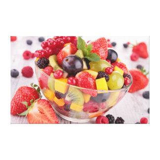 Ensalada de fruta fresca impresión en lona