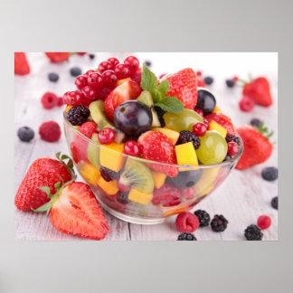Ensalada de fruta fresca póster