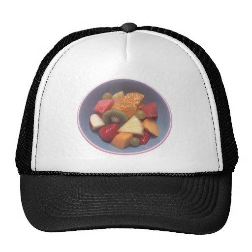 Ensalada de fruta gorros bordados