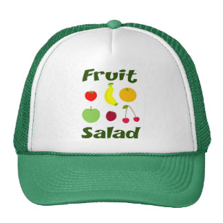 Ensalada de fruta gorras