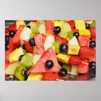 Ensalada de fruta hermosa póster
