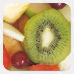 Ensalada de fruta calcomania cuadradas personalizadas