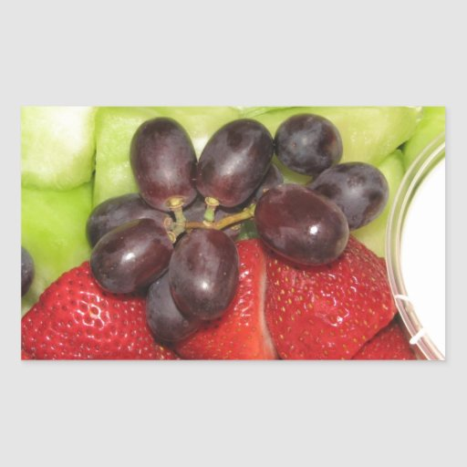 Ensalada de fruta pegatina