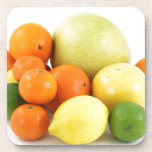 Ensalada de fruta posavasos de bebida