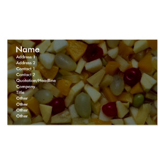 Ensalada de fruta tarjeta de visita