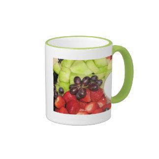 Ensalada de fruta tazas de café
