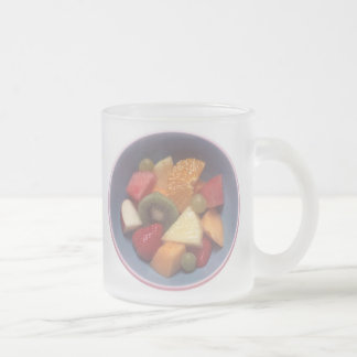 Ensalada de fruta taza de café esmerilada
