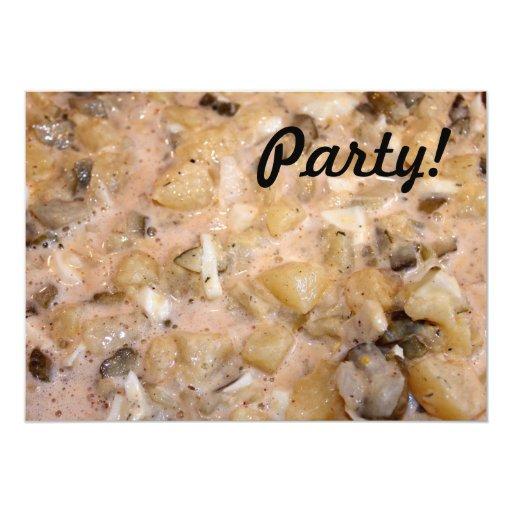 Ensalada de patata invitación 12,7 x 17,8 cm