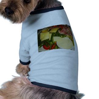 Ensalada del jamón y del queso camisetas mascota