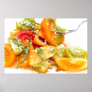Ensalada del tomate impresiones