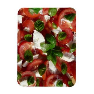 Ensalada del tomate y de la mozzarella imanes de vinilo