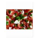 Ensalada del tomate y de la mozzarella postal