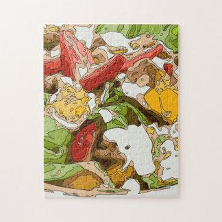 Ensalada deliciosa del tomate, del aguacate y del puzzle
