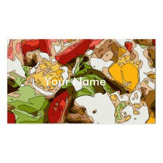 Ensalada deliciosa del tomate, del aguacate y del tarjetas de visita