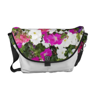 Ensalada floral grabada en relieve bolsa de mensajería