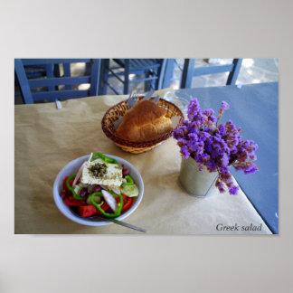 Ensalada griega impresiones