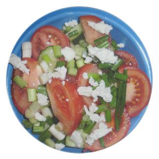 Ensalada griega platos de comidas