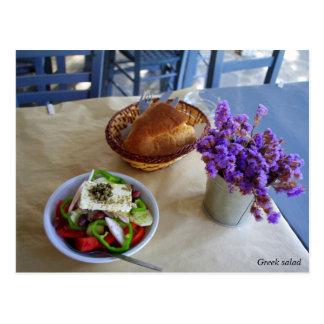 Ensalada griega tarjetas postales
