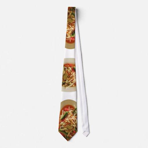 Ensalada picante de la papaya [som Tam] Corbata Personalizada