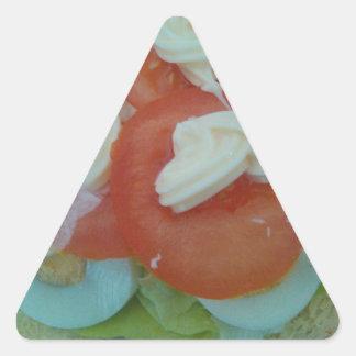 Ensalada sana de la primavera calcomanías trianguloes personalizadas