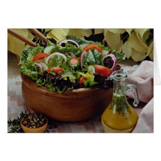 Ensalada vegetal mezclada tarjeta de felicitación