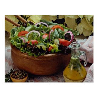 Ensalada vegetal mezclada tarjeta postal