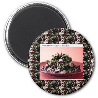 Ensaladas americanas superiores de la cocina de imán redondo 5 cm