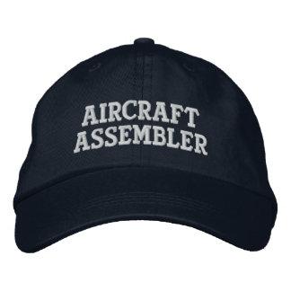 Ensamblador de los aviones gorra de béisbol bordada