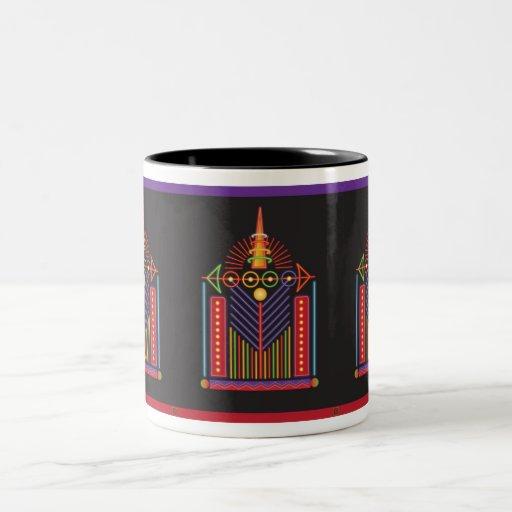 Ensambladura 2 taza de café de dos colores