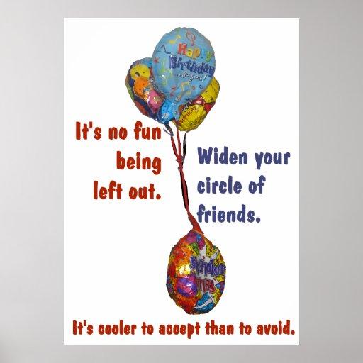 Ensanche su círculo del poster de los amigos