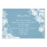 Ensayo blanco azul del boda del copo de nieve del invitación