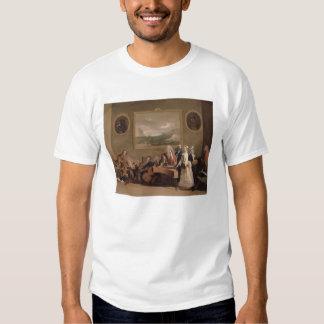 Ensayo de una ópera, c.1709 (aceite en lona) 2 playera