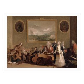 Ensayo de una ópera, c.1709 (aceite en lona) 2 postales