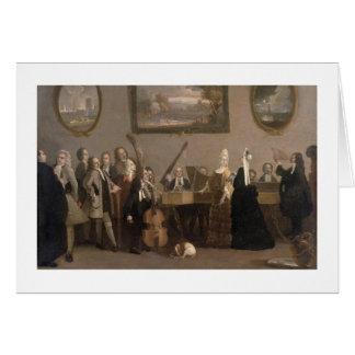 Ensayo de una ópera, c.1709 (aceite en lona) tarjeta de felicitación