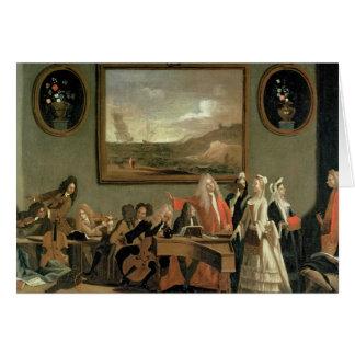 Ensayo de una ópera tarjeta de felicitación