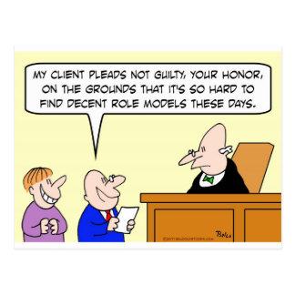 ensayo decente del juez de los modelos postales