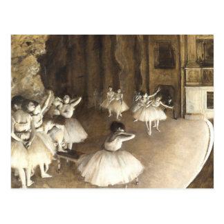 Ensayo del ballet de Edgar Degas el   Tarjeta Postal