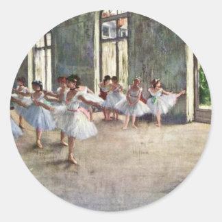 Ensayo del ballet de Edgar Degas Pegatinas Redondas