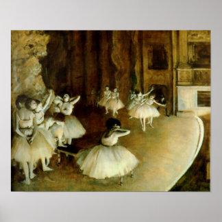 Ensayo del ballet en etapa poster