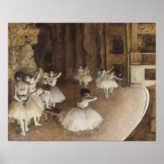 Ensayo del ballet en la etapa el   Edgar Degas Póster