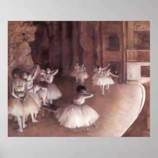 Ensayo del ballet en la etapa impresiones