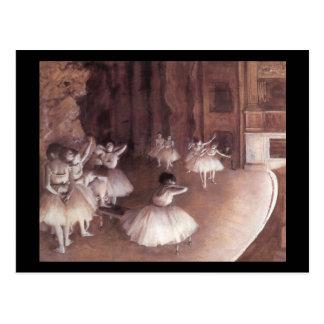 Ensayo del ballet en la etapa tarjetas postales