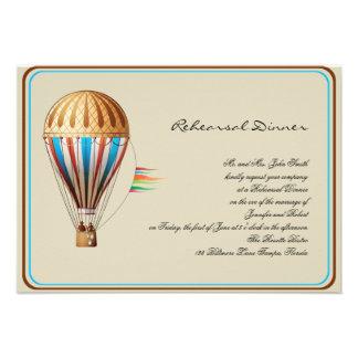 Ensayo del boda del globo del aire caliente del vi invitacion personal
