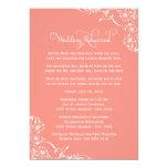 Ensayo del boda y coral de las invitaciones el | invitación 12,7 x 17,8 cm