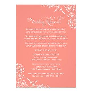 Ensayo del boda y coral de las invitaciones el | d anuncio